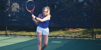 Sasha Hartje had a 20-11 record in singles and a 15-13 record in doubles playing tennis for Emory University.