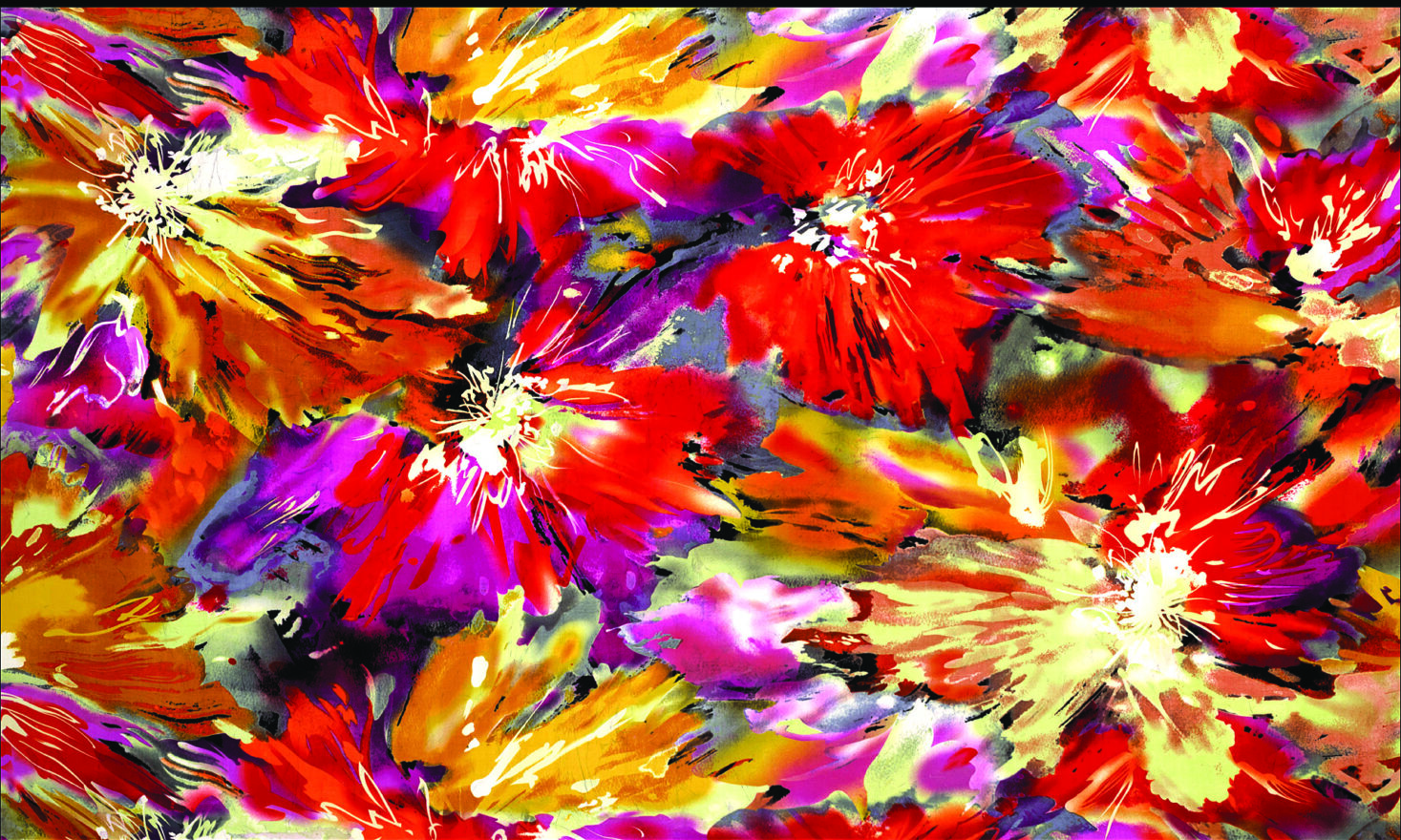 A colorful floral piece from Amos Amit.