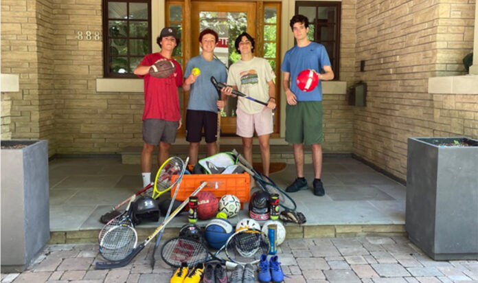 These high school students from Birmingham are collecting sports equipment for Brilliant Detroit.
