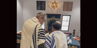 A photo of the bar mitzvah boy in Bahrain.