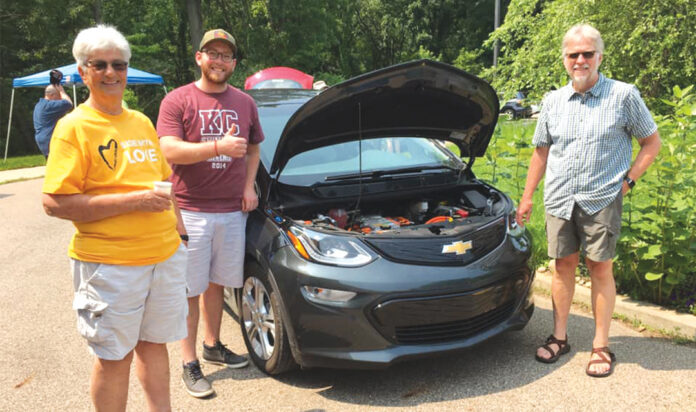 Electric Vehicle Expo held at Peoples Church in Kalamazoo on July 18, 2021. Peoples Church and Temple B'nai Israel are among a few religious communities in Kalamazoo that have installed electric vehicle chargers as part of their commitment to climate action.