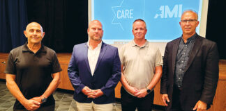 CARE security consultant Doron Shalev, CARE Executive Director Avidov Bernstein, CARE security consultant Ilan Holon, Gary Sikorski, director of community-wide security, Jewish Federation of Metropolitan Detroit