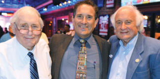 Carl, Andy and Sander Levin in 2018