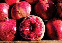 Pomegranates first start to appear in U.S. markets in late summer, with the primary season running from October through January.