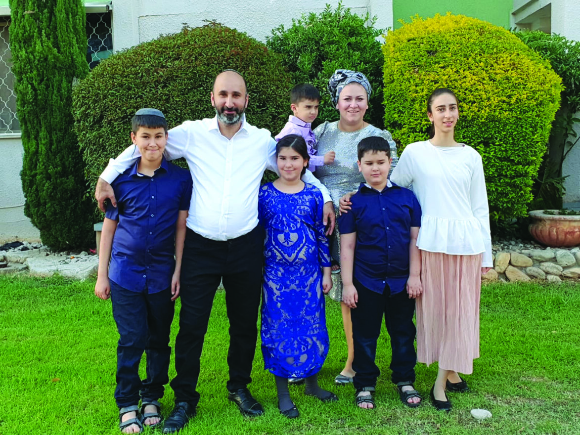 The bar mitzvah boy and his family.