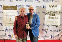 Local Holocaust survivor Fred Lessing, featured in the award-winning short film Bear and Fred, and local filmmaker Keith Famie