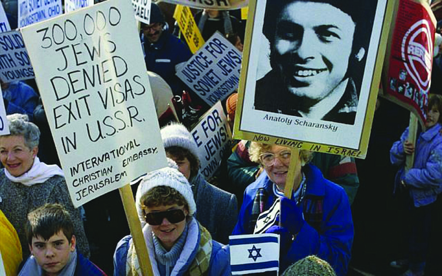 American Jews protest against Soviet Jewish policies during a demonstration in Washington, D.C.