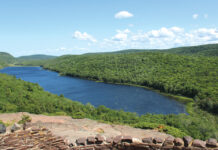 A view of the Porcupine Mountains in the Upper Peninsula.