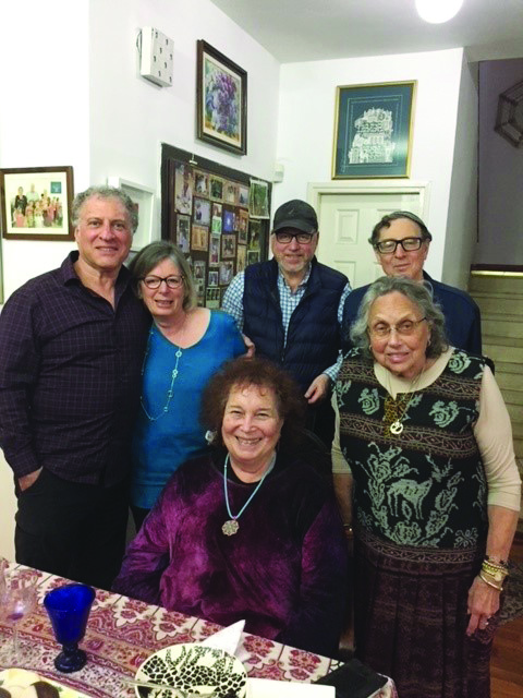 Rae Sharfman, on the far right, with a group of Soviet Jewry activists in Israel three years ago.