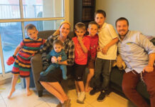 Rochelle and Barry Zelcer and their five sons.