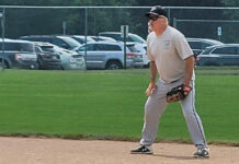 Defense is a forte of the Congregation Shir Tikvah softball team. Mark Small is a big reason for that strength.
