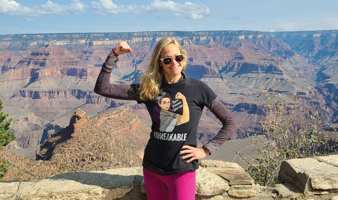 Dr. Elizabeth Zide, who walked the Grand Canyon rim to rim to raise money to battle NET.