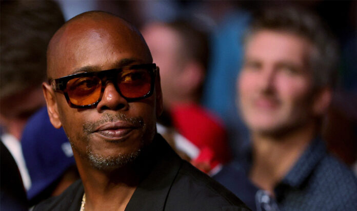 Dave Chappelle at a UFC fight in Las Vegas, July 10, 2021.