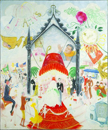 Florine Stettheimer, 'Cathedrals of Fifth Avenue,' 1931, Metropolitan Museum of Art, NYC