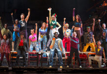 """The company of the """"RENT"""" 25th Anniversary Farewell Tour."""