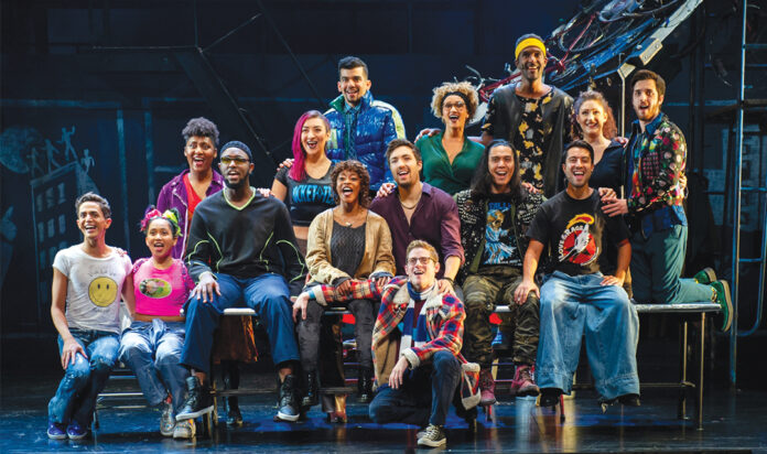 The cast of Rent 25th Anniversary Tour, coming Oct. 19-24 to the Fisher Theatre